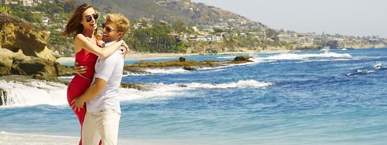Couple beach slider
