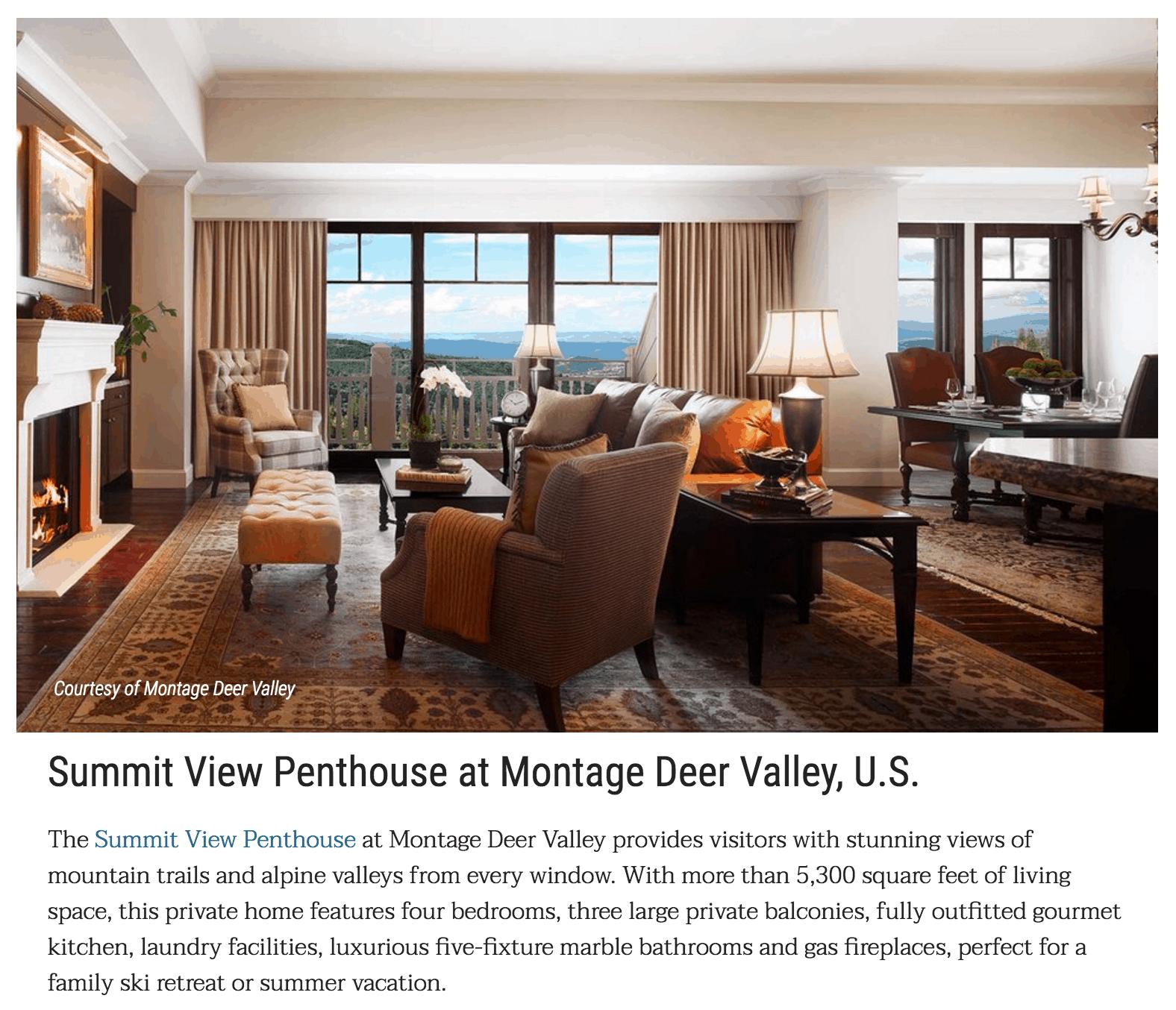 Luxury Utah Resort Press Coverage | Montage Deer Valley on