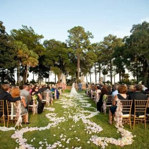 Outdoor wedding on the Village Green