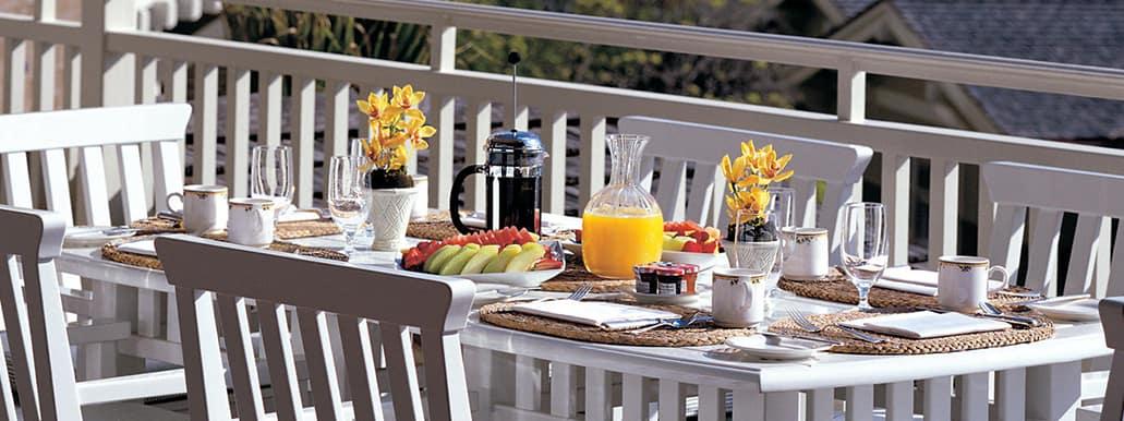 Breakfast On The Patio Of Loft Montage Laguna Beach