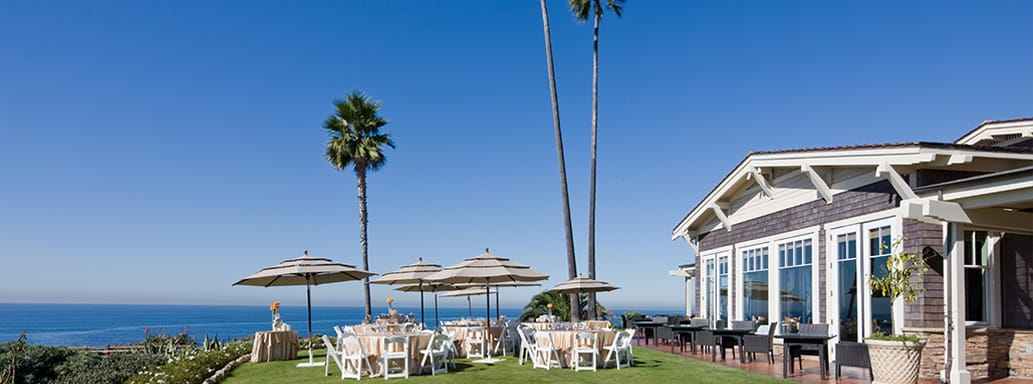 Outdoor meeting and event space at Montage Laguna Beach, CA